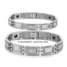 Wholesale 2015 New Hot Sale Fashion Jewelry Fiber Chain Women's/men's 316 Titanium Steel Bracelets For Women/men Ty3355 (China (Mainland))