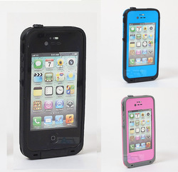 2013 Hot 5 color Waterproof Case Cell Phone Cases Protector Water Proof For iPhone 4 4S Free shipping(China (Mainland))