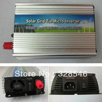 THE Grid Tie Power Inverter 200Watt Solar Panel 10.5V to 28V Generator US Plug