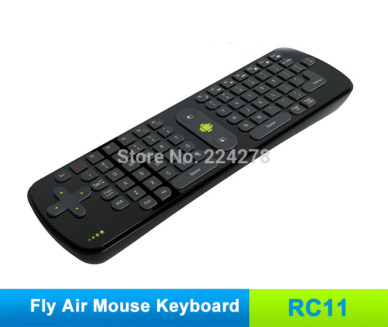 Free Shipping, Measy RC11 Mini Fly Air Mouse RC11 2.4GHz Wireless Keyboard for Google Android 4.0 Mini PC TV Palyer Box(China (Mainland))