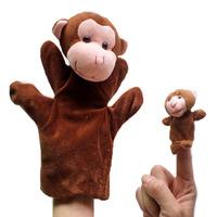 20 set / lot Animal monkey parent-child puppet toy monkey large puppet toy education toys