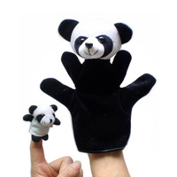 20 set / lot Animal parent-child puppet animal toys educational toys hand animal puppet