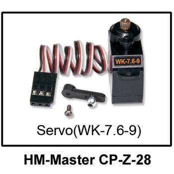 F04864 Walkera Master CP Spare Part HM-Master CP-Z-28 Metal Gear Servo WK-7.6-9  + Free shipping