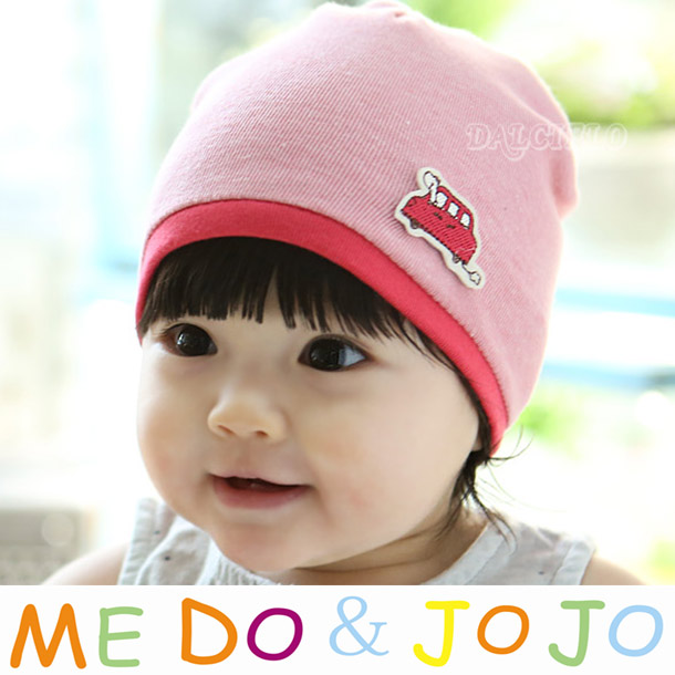 Children baby pocket spring and autumn hat infant cap piles color block car decoration labeling baby hat(China (Mainland))
