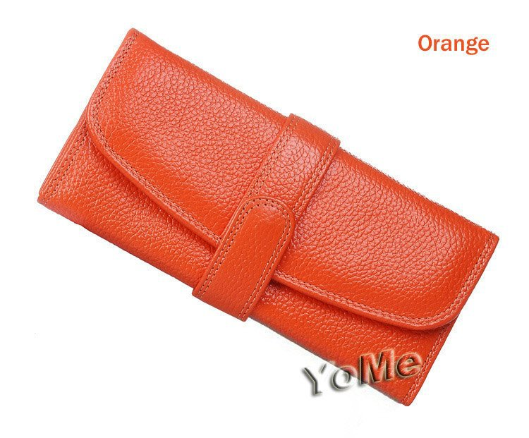 2013 New Rose Long Clutch Wallet Genuine Leather,3 Money Places,8 Card Places,1 Zipper Pocket,NW003C(China (Mainland))