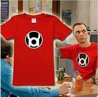 The Big Bang Theory Sheldon Cooper Red Lantern Gollum 6 Color Red Green Cool Men's 100% cotton Tshirt Tee Free Shipping