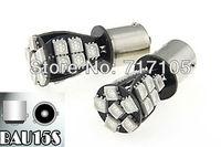 100pcs 1156 BAU15S 21 SMD Amber Yellow CANBUS OBC No Error Signal Car 21 LED Light Bulb Rear Turn Signal py21w