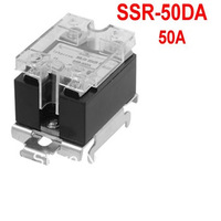 AC 24-480V Output Temperature Control Solid State Relay 50A SSR-50DA w DIN Rail Base