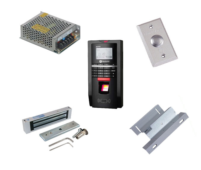 Free shipping by DHL,finger access control kit,finger access control+power+180kg magnetic lock+ZL bracket+exit button,sn:F20_4(China (Mainland))