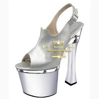 18cm t high-heeled shoes top open toe sandals sexy temptation