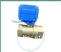 motorized ball valve DN20.2 way 12V. electrical valve. motorkogelklep  /freeshipping