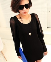 2013 New Brand Designer Promotions Hot Trendy Fashion Leisure All-Match Sexy Slim Polyester Women's  Dress