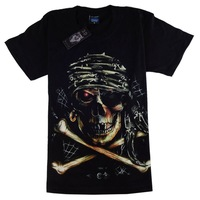 Fashion 3d print skull T shirt Big Size xxxxl t-shirt HIP HOP Brand Casaul Short Sleeve 100% Cotton T shirt, free shipping