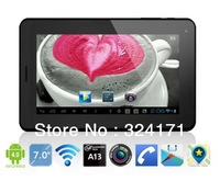 Cheap! 7 inch Allwinner a13 2G phone tablet Android 4.0 5 points touch capacitive screen WiFi GSM slot