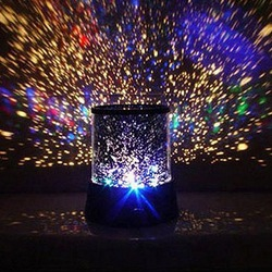 Free Shipping New Dreamlike Colorful Star Master Night Light Novelty Amazing LED Sky Star Master Light Projector Lamp Night Lamp(China (Mainland))