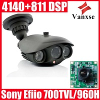 Vanxse 700TVL EFFIO-E 1/3 SONY Exview CCD Outdoor Long Range Security CCTV Array Camera 8mm lens Surveillance camera