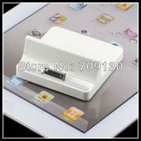 5PCS/LOT White USB Base Dock stand Station Cradle Charger for Apple iPhone 4 iPad 1/2
