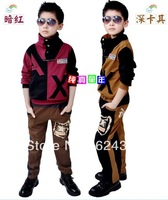 Free shipping sale 2013 spring autumn Boys and children's clothing casual sportswear two-piece boy's suit clothing sets