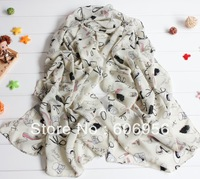 100% silk women scarf 175cm*72cm   korea fashion long chiffon   scarves hijab/bandana  free shipping