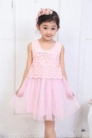 Free Shipping  Cute Girl's Lace Tutu Dress, Girls ball gown, Girls Princess Dress  3pcs/lot