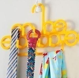 Home multifunctional 2631 tie rack magic hanger strap racks belt rack silk scarf rack