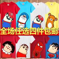 batman superman t shirt 2013 series 100% cotton o-neck short-sleeve T-shirt lovers