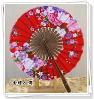 Windmill fan flowers - women's kimono folding fan japanese style and wind round fan pill fan round fan