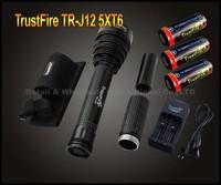 1PC Trustfire TR-J12 Flashlight 5 Mode 4500 Lumens 5 X CREE XM-L T6 LED Waterproof High Power Torch+3X26650 Battery+charger