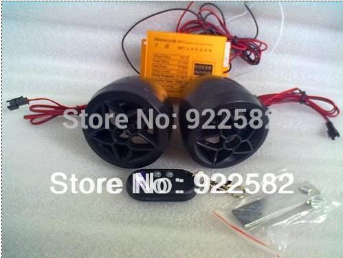 Happy feedback/Motorcycle MP3 AUDIO ALARM SYSTEM /anti-theft digital MP3 +FM+usb/sd/ Burgarproof Motorcycle MP3 palyer(China (Mainland))