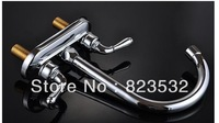 free shipping for Copper double hot and cold basin faucet ceramic basin