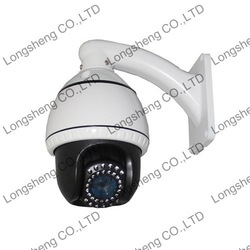 10X optical Zoom 4 Inch 700TVL High resolution Mini High Speed Dome PTZ IR Camera 30m IR Distance DHL/EMS Shipping(China (Mainland))