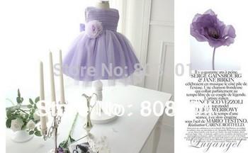 Veronika purple 2013 international bestseller design.High-quality workmanship girl dress children dress