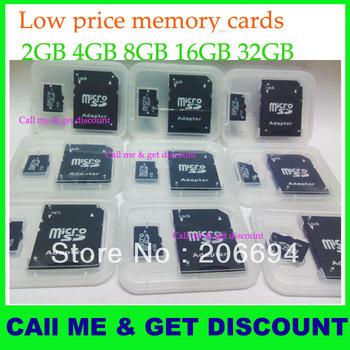 With retail box  2GB 4GB 8GB Micro SD MicroSD TF Memory Card +SD Card Adapter 2G 4G 8G 16 GB, Free shippig DHL