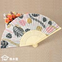 Endulge japanese style silk fan leaves fan folding fan female fan wedding gift