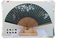 Endulge japanese style folding fan kimono fan japanese style gift fan silk female fan bamboo handle fan