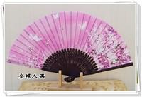Japanese style blue print female fan silk fan japanese style fan female folding fan