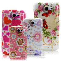 For htc   one x phone case s720e g23 protective case mobile phone case flower drip-drop shell protective case