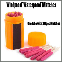 Free Shipping 20pcs/lot Portable Extra-large Head Windproof Waterproof Matches