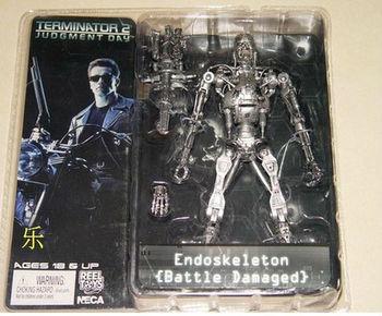 "Free Shipping NECA Terminator 2 T2 T-800 ENDOSKELETON Battle Damaged 7"" Action Figure Toy Doll"