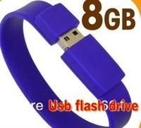 HOT ! Silicone Wristbands USB Flash Pen Drive  2GB 4GB 8GB 16GB 32GB 64GB Free Shipping