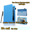 Light Blue Color Clip Design Leather Case For The New iPad 4 Smart Cover 3 2 Gen Sleep and Stand Fold Smart Cover