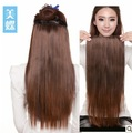 Sales on Clip in Extensions Factory Outlet Synthetic Hair Weave 20'' Silk Straight 3 colors available 90g/pc Free Shipping