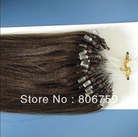 "200s 18"" 125s 20"" 100s 22"" Indian Remy Micro ring Loop hair extension #8 medium brown colour 100gram/pack STOCK"