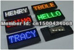 LED name badge LED sign Electronic Sign LED name tag LED display Rechargeable type(China (Mainland))