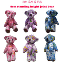 Wholesale &lt;60pcs/Lot H=8cm&gt; Plush Multicolor Joint Bear Pendants For Key/Phone/Bag For Christmas Gifts,Color Mixed