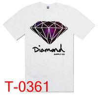 Diamond 2013 New arrivals  Sport Style  T shirt men shirt T shirts  tees men Size S-XXL pure cotton Free shipping