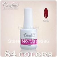 24Pcs/set 15ml 5oz 2013 New Arrivals Soak Off UV/LED Nail Gel Polish 84 Classic Colors Available Free Shipping!