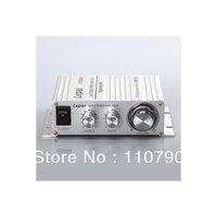 Silver LP-2020A+ Lepai Tripath Class-T Hi-Fi Audio Mini Amplifier with Power Supply