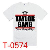 Taylor Gang 2013 New arrivals  Sport Style  T shirt men shirt T shirts  tees men Size S-XXL pure cotton Free shipping