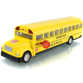 Classic school bus plain WARRIOR music car model toys